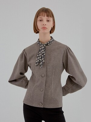 VOLUME BLOUSE JACKET BROWN