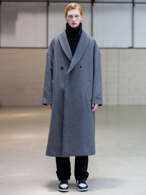 SHAWL COLLAR OVERSIZED DOUBLE COAT_2 COLOR
