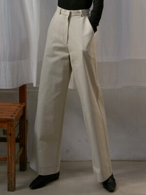 [By Joorti] J370 stitched pants (ivory)