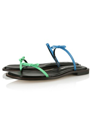 Lily sandals / 20SS-S429 Fern green+Deep green