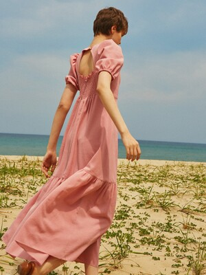 Cut-out Maxi Dress_Rose