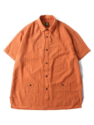 STRIPE PAJAMA SHIRTS [Orange]