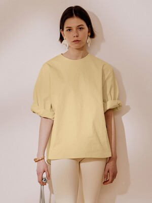 Retina Woven Top_Pale Yellow