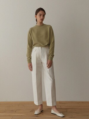 Kate Pin-tuck pants (Ivory)