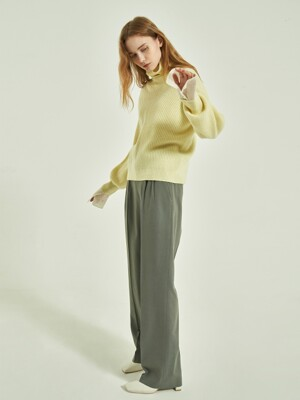 Cale Wool Wide Pants_3colors