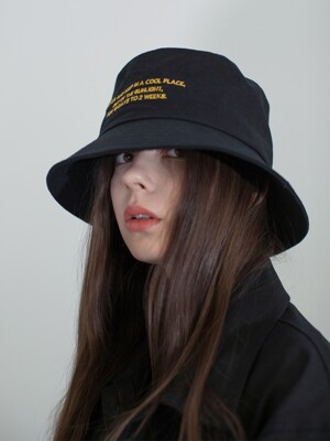 STAFF BUCKET HAT BLACK