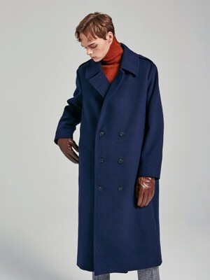 NORMAL DOUBLE BUTTON COAT_NAVY