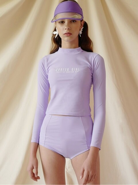 ROPE NECK RASHGUARD (PURPLE SET)