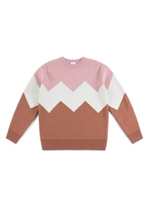 ALPS KNIT (PINK-BROWN)
