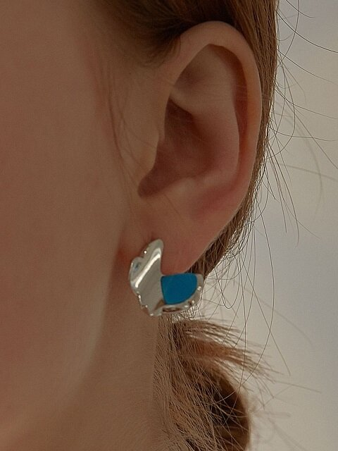 Ocean Wave Earring (2color)