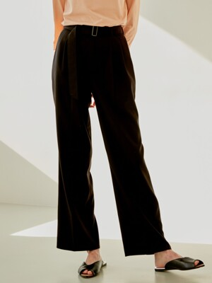 19S DOUBLE TUCK PANTS (BROWN)