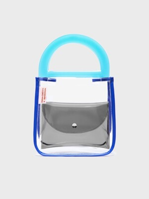 Bensimon X High Cheeks HANDBAG - BLUE PUDDING