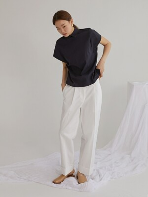Roll-up chino pants_Ivory