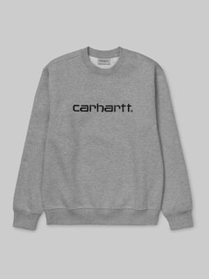 CARHARTT SWEATSHIRT-GREY HEATHER/BLACK