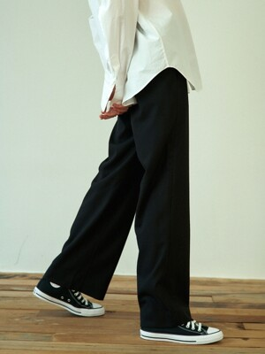 back banding pants (black)