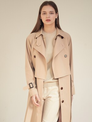 Gaia Layered Trench Coat_Beige