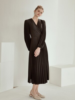 romance pleats wrap ops[black]