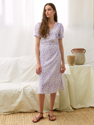 LANI WRAP DRESS, LAVENDER