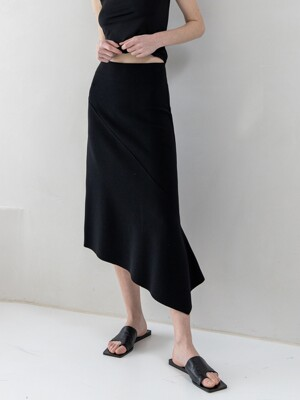 Asymmetric Easy Skirts_Ecru