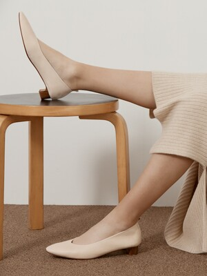LAMBSKIN LEATHER PUMPS_IVORY