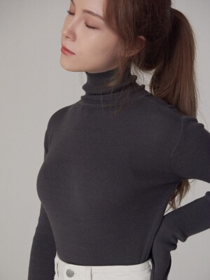 P Slim Turtleneck Knit (6color)