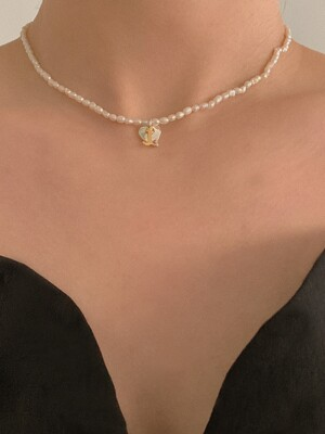 [단독]deep is your pearls necklace (Silver 925)
