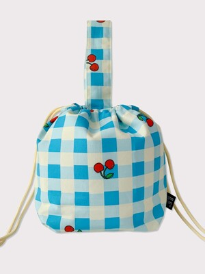 Check cherry string bag