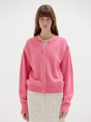 SIENNA Cardigan with Separable Sleeves - Pink