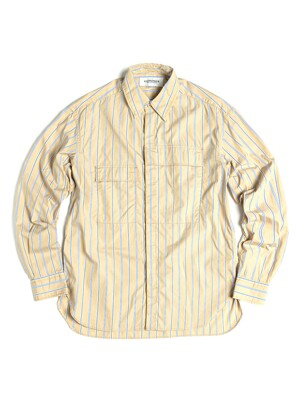 CBA SHIRT / BEIGE BLUE STRIPE