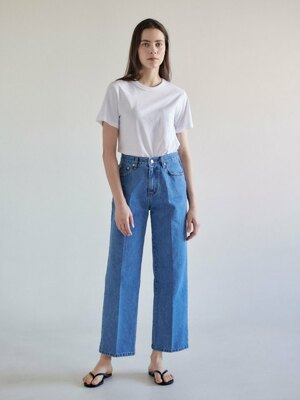 Wide denim pants-ligh tblue