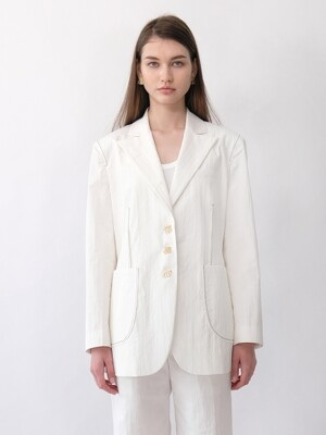 EMMY STITCH JACKET_WHITE