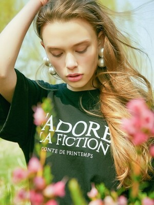 18SP FICTION T-SHIRT(BLACK)