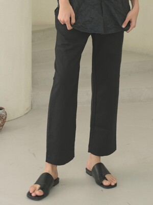 linen banding pants [black]