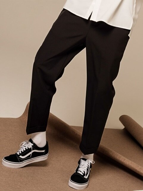 Turnup  Slim Slacks (Black)
