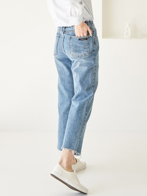 B WIDE DENIM BLUE