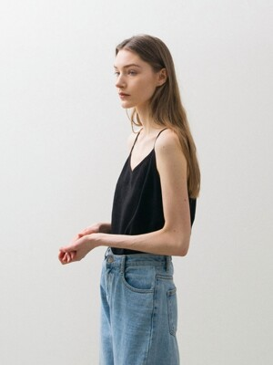 Linen Sleeveless - Black