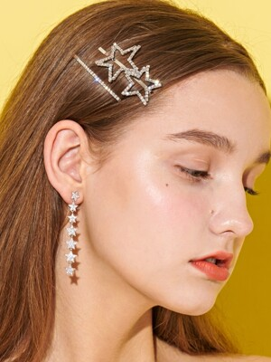 Starry Star Drop Earrings
