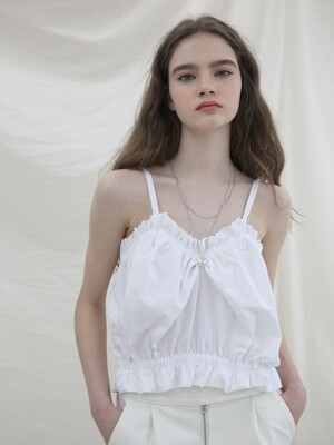balloon bustier _ white