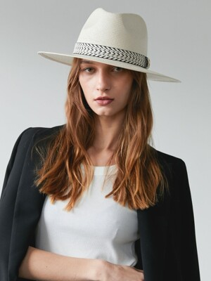 French banding hat ( ivory )