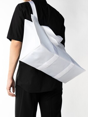 4WAY WHITE TWILL POLYESTER BAG