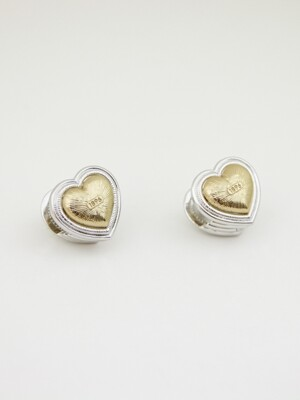 1896 HEART VOLUMER COMBI EARRINGS