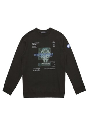 UNISEX SPACE SWEAT SHIRTS BLACK