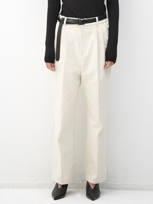 CREAM belted wide fit denim pants(KB003)