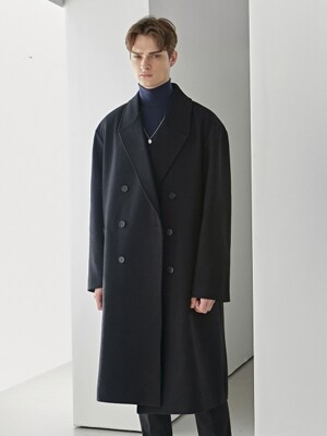 PREMIUM WOOL DOUBLE LONG COAT_BLACK