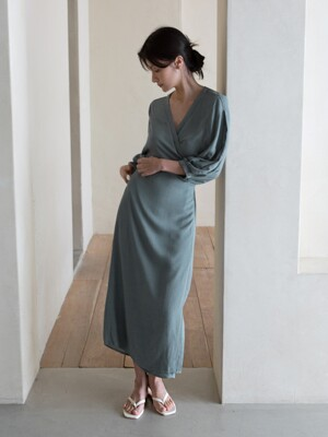 ROBE DRESS - BLUE GREEN