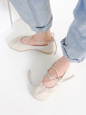 Ballerina flat shoes_turn_ivory