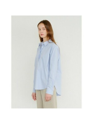 Oversize Basic Shirt in Sky Blue