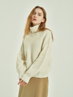 Bevan Whole Garment Turtle-Neck Knit_6colors