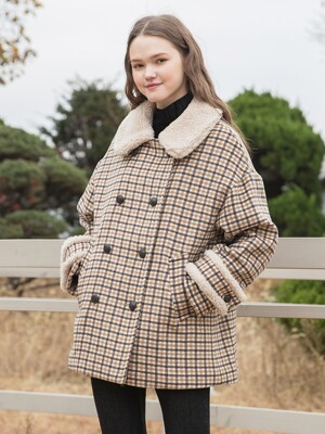 Fur Check Double Coat