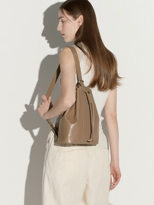 Tully bucket bag - khaki beige